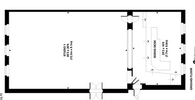 Studio 1 floor plan