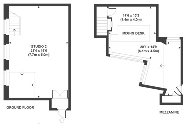 Studio 2 floor plan