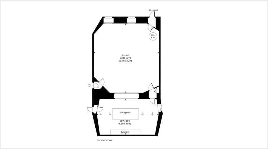 Studio 3 floor plan