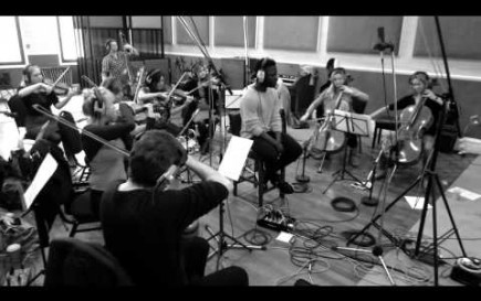 Kwabs and Wired Strings recording 'Perfect Ruin' at RAK Studios